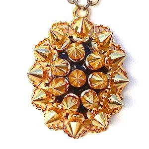 GASOLINE GLAMOUR GOLD SPIKE NECKLACE